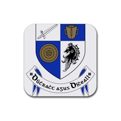 County Monaghan Coat of Arms Rubber Coaster (Square)