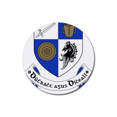 County Monaghan Coat of Arms Rubber Coaster (Round)