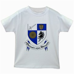 County Monaghan Coat of Arms Kids White T-Shirts