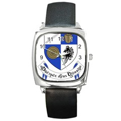County Monaghan Coat of Arms Square Metal Watch