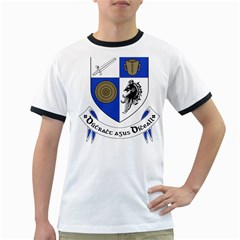 County Monaghan Coat of Arms Ringer T-Shirts