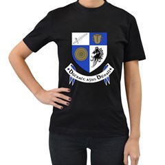 County Monaghan Coat of Arms Women s T-Shirt (Black) (Two Sided)