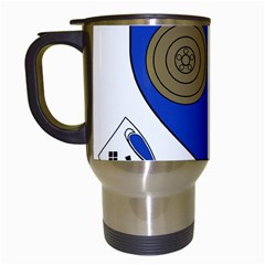 County Monaghan Coat of Arms Travel Mugs (White)