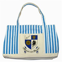 County Monaghan Coat of Arms Striped Blue Tote Bag