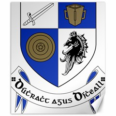 County Monaghan Coat of Arms Canvas 8  x 10