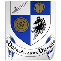 County Monaghan Coat of Arms Canvas 20  x 24