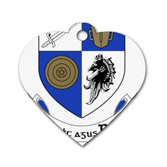 County Monaghan Coat of Arms Dog Tag Heart (One Side)