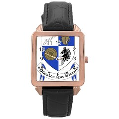 County Monaghan Coat of Arms Rose Gold Leather Watch