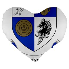 County Monaghan Coat of Arms Large 19  Premium Flano Heart Shape Cushions