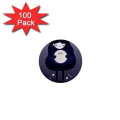 Moon 1  Mini Buttons (100 pack)