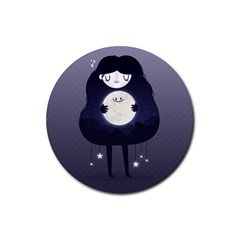 Moon Rubber Round Coaster (4 pack)