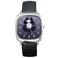 Moon Square Metal Watch