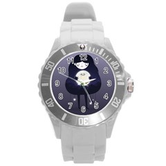 Moon Round Plastic Sport Watch (L)