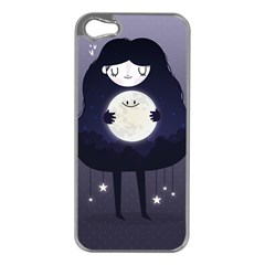 Moon Apple iPhone 5 Case (Silver)