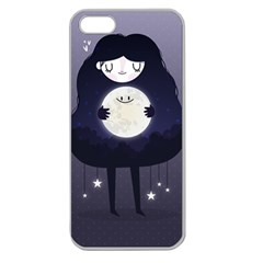 Moon Apple Seamless iPhone 5 Case (Clear)