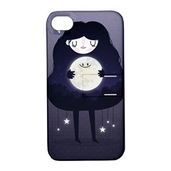 Moon Apple iPhone 4/4S Hardshell Case with Stand