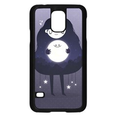 Moon Samsung Galaxy S5 Case (Black)