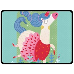 Unicorn Fleece Blanket (Large)