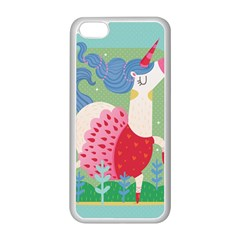Unicorn Apple iPhone 5C Seamless Case (White)