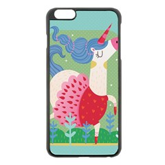 Unicorn Apple iPhone 6 Plus/6S Plus Black Enamel Case