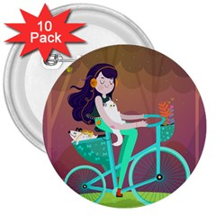 Bikeride 3  Buttons (10 pack)