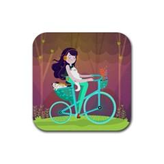 Bikeride Rubber Coaster (Square)