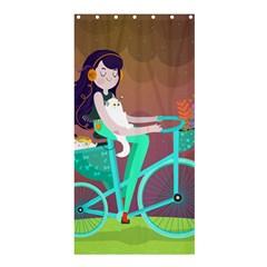 Bikeride Shower Curtain 36  x 72  (Stall)