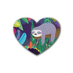 Sloth in nature Heart Coaster (4 pack)