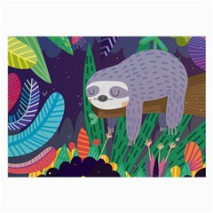 Sloth in nature Large Glasses Cloth