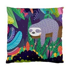 Sloth in nature Standard Cushion Case (One Side)