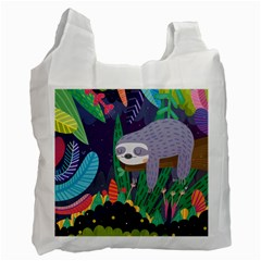 Sloth in nature Recycle Bag (One Side)