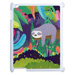 Sloth in nature Apple iPad 2 Case (White)