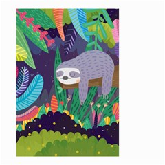 Sloth in nature Small Garden Flag (Two Sides)