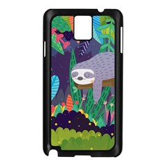 Sloth in nature Samsung Galaxy Note 3 N9005 Case (Black)
