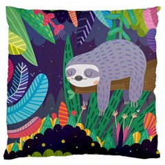 Sloth in nature Standard Flano Cushion Case (Two Sides)