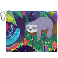 Sloth in nature Canvas Cosmetic Bag (XXXL)