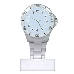 Pastel Color - Light Azureish Gray Plastic Nurses Watch