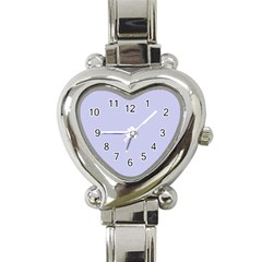 Pastel Color - Light Bluish Gray Heart Italian Charm Watch