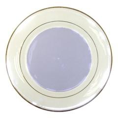 Pastel Color - Light Bluish Gray Porcelain Plates