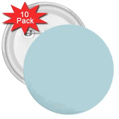 Pastel Color - Light Cyanish Gray 3  Buttons (10 pack)