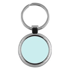 Pastel Color - Light Cyanish Gray Key Chains (Round)