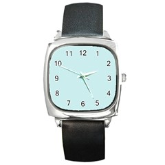 Pastel Color - Light Cyanish Gray Square Metal Watch