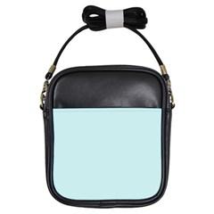 Pastel Color - Light Cyanish Gray Girls Sling Bags