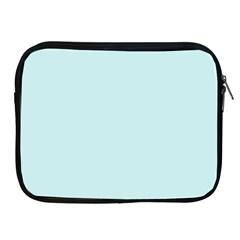 Pastel Color - Light Cyanish Gray Apple iPad 2/3/4 Zipper Cases