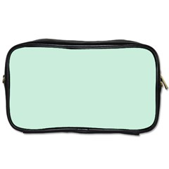 Pastel Color - Light Greenish Gray Toiletries Bags