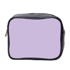 Pastel Color   Light Violetish Gray Mini Toiletries Bag 2 Side