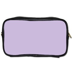 Pastel Color - Light Violetish Gray Toiletries Bags 2-Side
