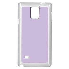 Pastel Color - Light Violetish Gray Samsung Galaxy Note 4 Case (White)