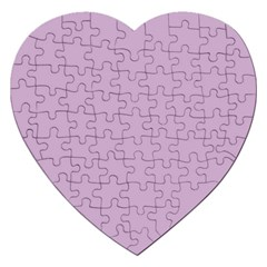 Pastel Color - Magentaish Gray Jigsaw Puzzle (Heart)
