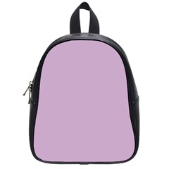Pastel Color - Magentaish Gray School Bags (Small)